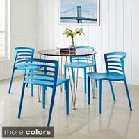 Contemporary Curvy Dining Chairs (Set of 4)