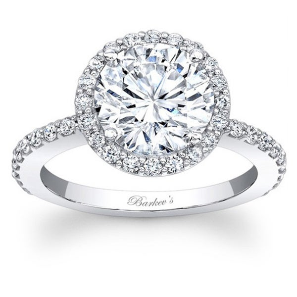 ece4a4a93 Shop Barkev's Designer 14k White Gold 1.50ct TDW Diamond Halo Ring ...