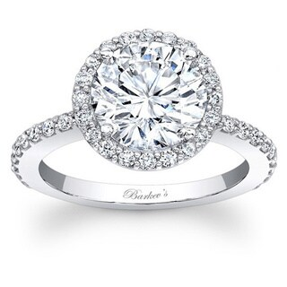 Barkev's Designer 14k White Gold 1.50ct TDW Diamond Halo Ring (More options available)