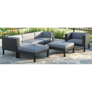 CorLiving Oakland 6-piece Sofa with Chaise Lounge and Chair Patio Set