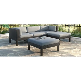 CorLiving Oakland 5-piece Sofa/ Chaise Lounge Patio Set