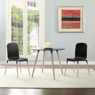 Stack Wood Black Dining Chairs (Set of 2)