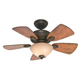 Ceiling fans for less overstock hunter fan watson bronze finish 5 blade 34 inch ceiling fan aloadofball Image collections