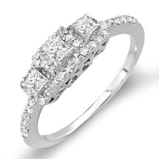 Elora 14k White Gold 1/2ct TDW Princess Diamond Engagement Ring (H-I, I1-I2)