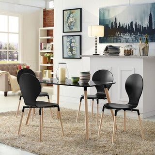 Path Black Dining Chairs and Table Set