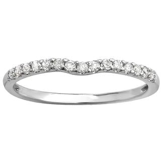 14k Gold 1/4ct TDW Round Diamond Curved Wedding Band (I-J, I2-I3)