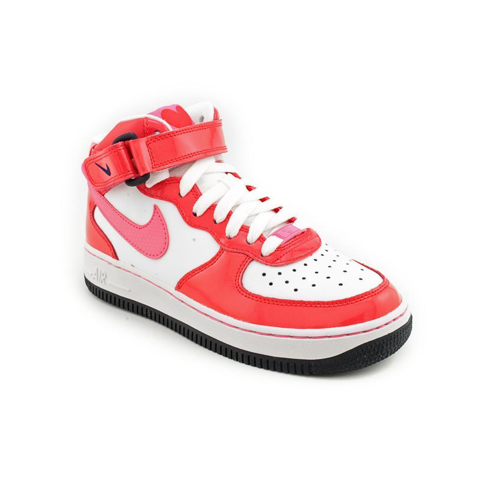 Nike Girl (Youth) 'Air Force 1 Mid ' Leather Casual Shoes...