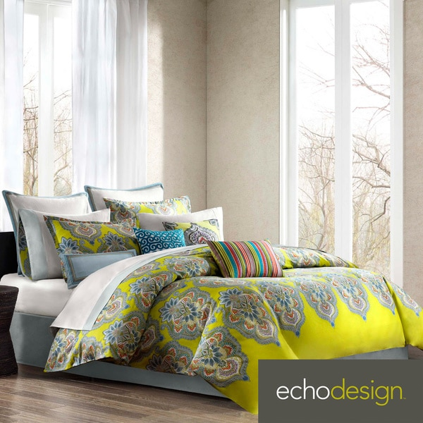 Echo Design Rio 3-piece Cotton Comforter Set with Optional Euro Sham Sold Separately