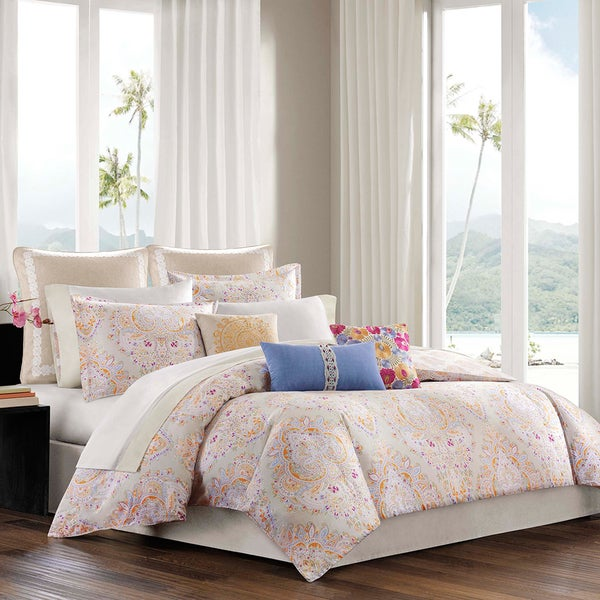 Echo Design Laila 4-piece Cotton Comforter Set with Optional Euro Sham Sold Separately
