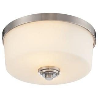 Z-Lite Lamina Brushed Nickel 2-light Flush-mount Light