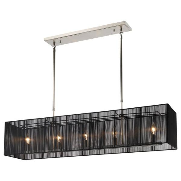 Shop Z-Lite Aura 5-light Brushed Nickel Billiard Lighting