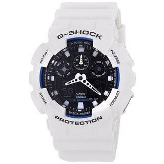 Casio Men's 'G-Shock' White Chronograph Watch