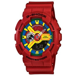 Casio Men's 'G-Shock' Multicolored Dial Red Watch
