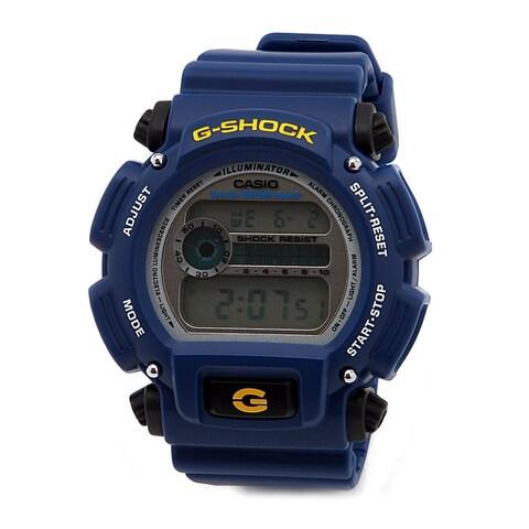 Casio Men's G-Shock Rubber Digital Dial Watch (Blue)