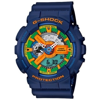 Casio Men's 'G-Shock' Blue Strap Multicolored Dial Watch