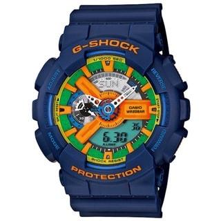 Casio Men's 'G-Shock' Blue Strap Multicolored Dial Watch