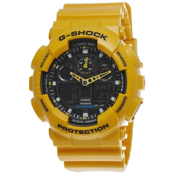 Casio Men S G Shock Yellow Watch