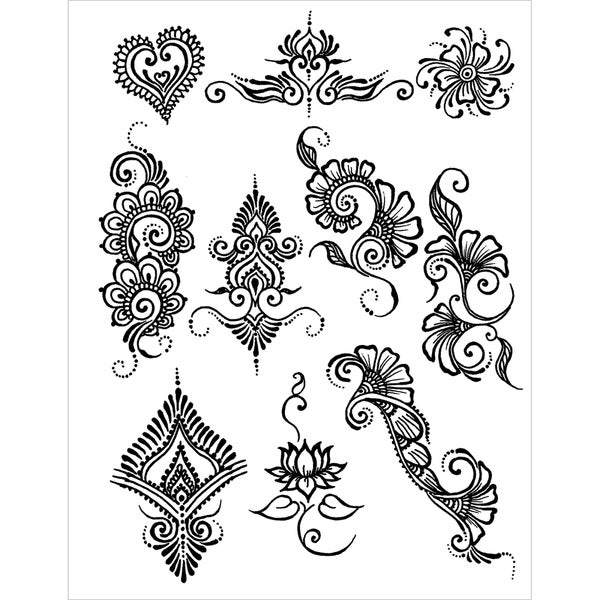 84221ec98 Shop Earth Jagua Stencil Transfer Pack-Akyio Henna Designs - Free Shipping  On Orders Over $45 - Overstock - 8958040