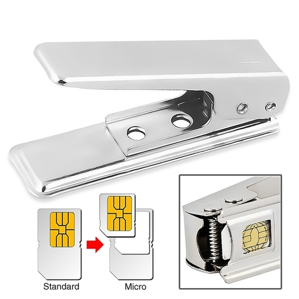 INSTEN Standard to Micro Sim Card Cutter for Cellphone Tablet