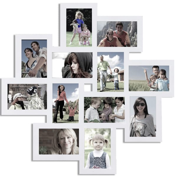 Shop White Wall Collage Frame With Twelve 4x6 Inch Openings Free
