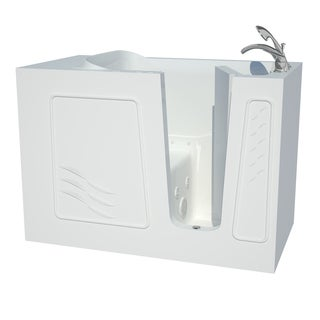 Explorer Series 30x53 Right Drain White Air And Whirlpool Jetted Walk In  Bathtub