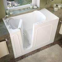 MediTub 26x53-inch Left Drain White Soaking Walk-In Bathtub