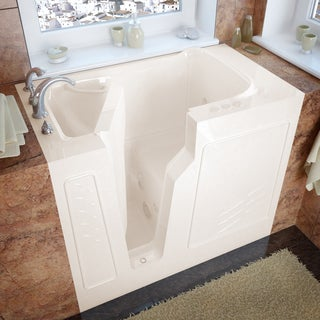 Mountain Home 26x46 Left Drain Biscuit Whirlpool Jetted Walk-in Bathtub