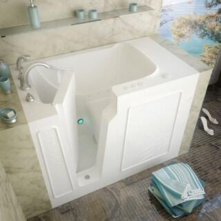 MediTub 29x52-inch Left Drain White Air Jetted Walk-In Bathtub