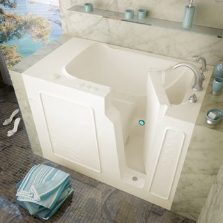 MediTub 29x52-inch Right Drain Biscuit Air Jetted Walk-In Bathtub
