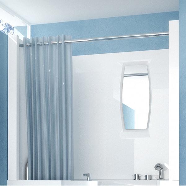 MediTub Shower Enclosure 27 x 47 3-Piece Walk-In Bathtub Surround in White