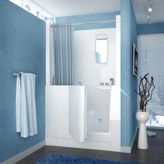 MediTub 27x47 Inch Right Drain White Soaking Walk In Bathtub