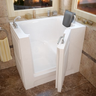 MediTub 27x39-inch Left Drain White Soaking Walk-In Bathtub