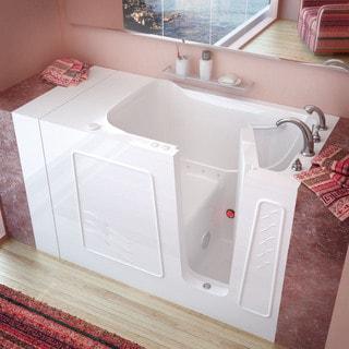 MediTub 30x53-inch Right Drain White Air Jetted Walk-In Bathtub