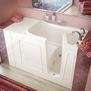 MediTub 30x53-inch Right Drain Biscuit Whirlpool & Air Jetted Walk-In Bathtub