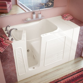 Mountain Home 30x53 Left Drain Biscuit Whirlpool Jetted Walk-in Bathtub