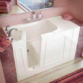 MediTub 30x53-inch Left Drain Biscuit Soaking Walk-In Bathtub