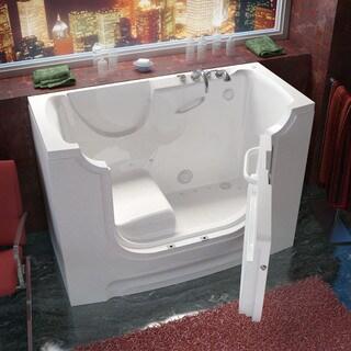 MediTub Wheelchair Accessible 30x60-inch Right Drain White Air Jetted Walk-In Bathtub