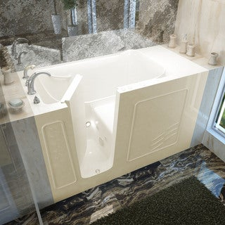 Mountain Home 30x60 Left Drain Biscuit Whirlpool Jetted Walk-in Bathtub