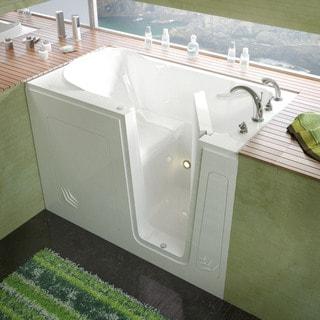 MediTub 30x54-inch Right Drain White Soaking Walk-In Bathtub