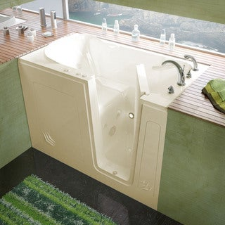 Mountain Home 30x54 Right Drain Biscuit Whirlpool Jetted Walk-in Bathtub
