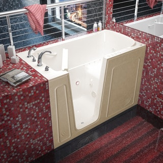 Mountain Home 32x60 Left Drain Biscuit Air and Whirlpool Jetted Walk-in Bathtub
