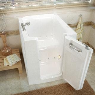 MediTub 32x38-inch Right Door White Air Jetted Walk-In Bathtub