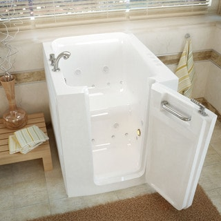 MediTub 32x38-inch Right Door White Whirlpool & Air Jetted Walk-In Bathtub