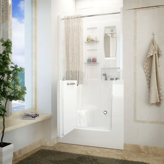 MediTub 31x40-inch Right Drain White Soaking Walk-In Bathtub