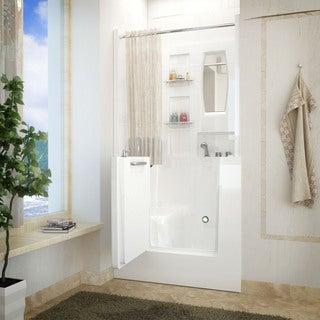 Lay Down Walk In Bathtub. Meditub 31x40 Inch Right Drain White Soaking Walk