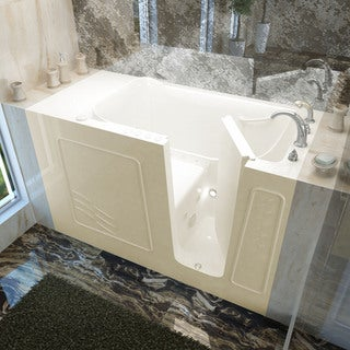 Mountain Home 30x60 Right Drain Biscuit Air and Whirlpool Jetted Walk-in Bathtub