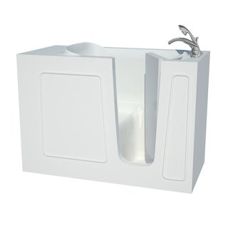 Explorer Series 26x53 Right Drain White Soaker Walk-in Bathtub
