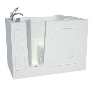 Explorer Series 30x53 Left Drain White Air and Whirlpool Jetted Walk-in Bathtub