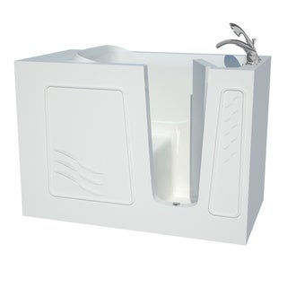 Explorer Series 30x53 Right Drain White Soaker Walk-in Bathtub