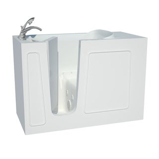 Explorer Series 26x53 Left Drain White Air and Whirlpool Jetted Walk-in Bathtub